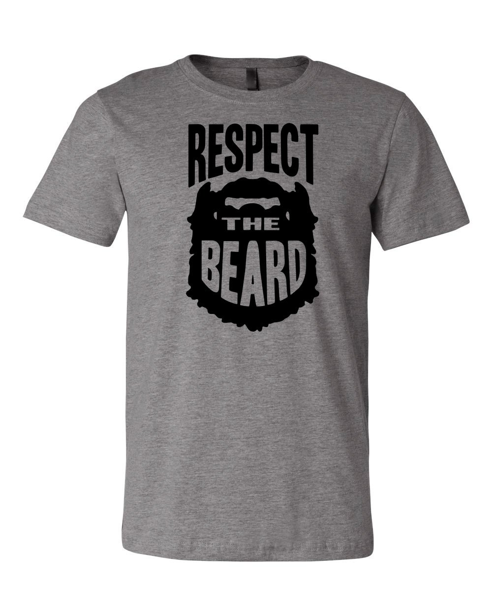 Respect the Beard Tee | Wrestle Around in This T-shirt (Large, Deep Heather)
