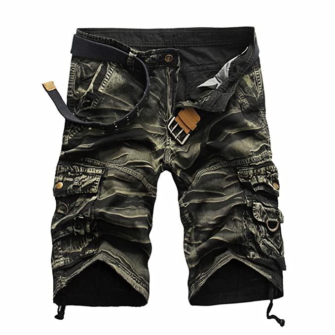 8b7af490d75 Amazon.com  Clearance! Fashion Mens Casual Pocket Beach Work Casual Short  Trouser Shorts Pants  Clothing