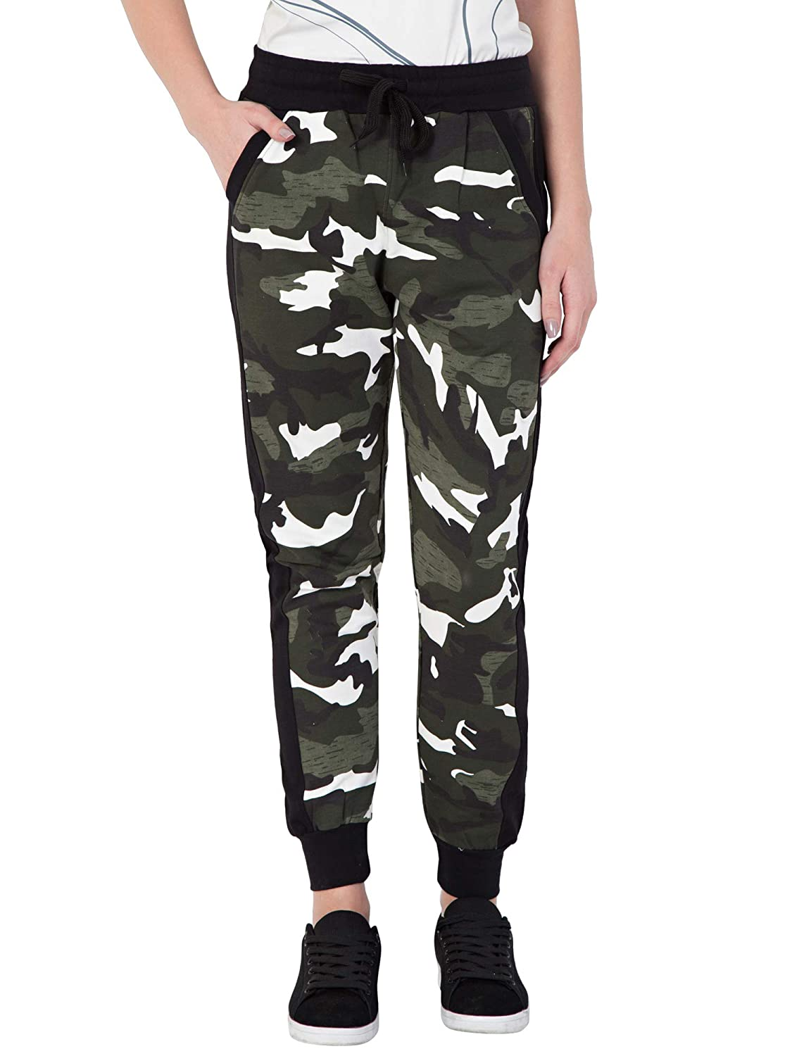 best great prices great fit Fflirtygo Women's Cotton Army Track Pants, Army Joggers for Women, Women's  Leisure Wear, Military Track Lower for Sports Gym Athletic Training Workout  ...