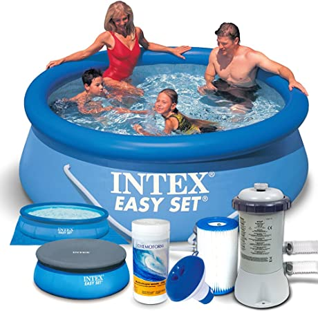 Set 7 in1 Quick Up Piscina Intex 28112 Diámetro 244 x 76 cm ...