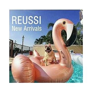 Rose de oro del flamenco gigante animales piscina inflable natación, verano inflable de juguete,