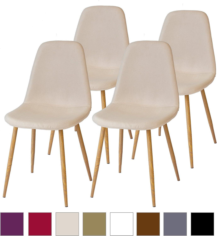 SGS Probado Albatros FANO Set de 2 Retro sillas de Comedor Beige