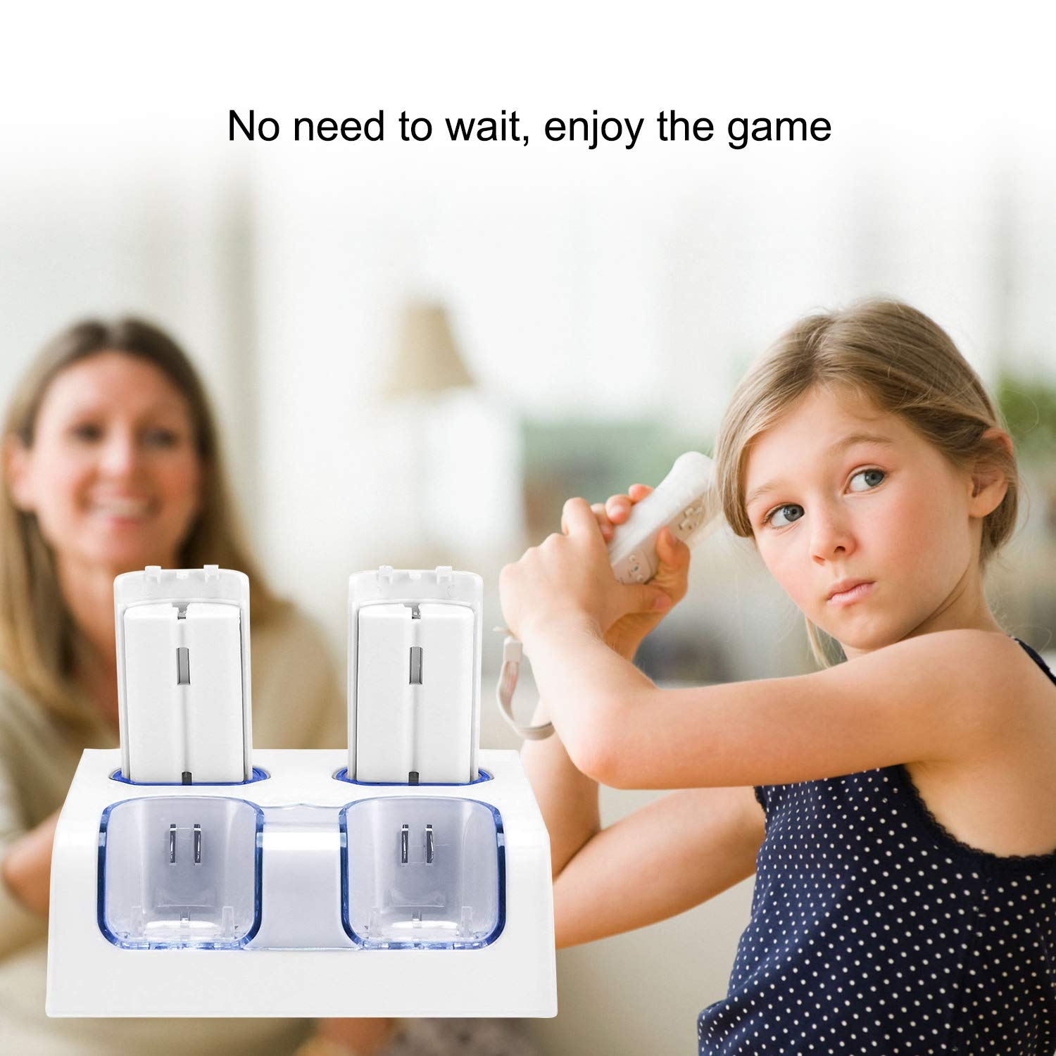 Wii Controller TechKen Set of 2 Wii Remote with Nunchuck