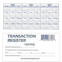 Easy Read Register 12 Checkbook Transaction Registers - 2020/21/22 Calendars
