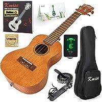 Kmise Concert Ukulele Kit Vintage Uke for Beginner With Starter Pack (Gig Bag Tuner Strap String Instruction Booklet) 23…