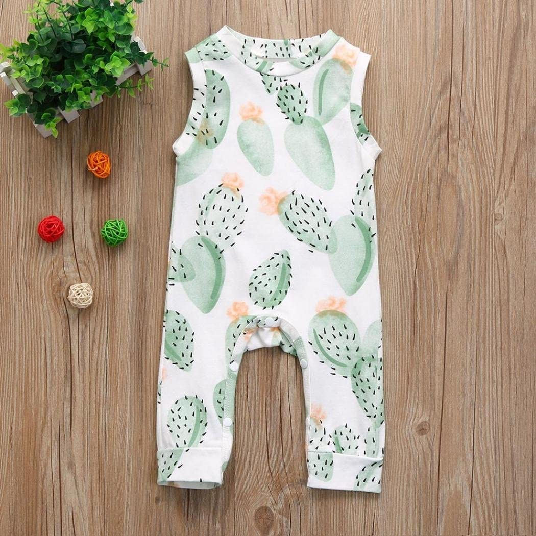 DIGOOD Toddler Baby Girls Boys Cartoon Animals Print Rompers,For 0-18 Months,Cute Playwear Jumpsuit Clothes Set