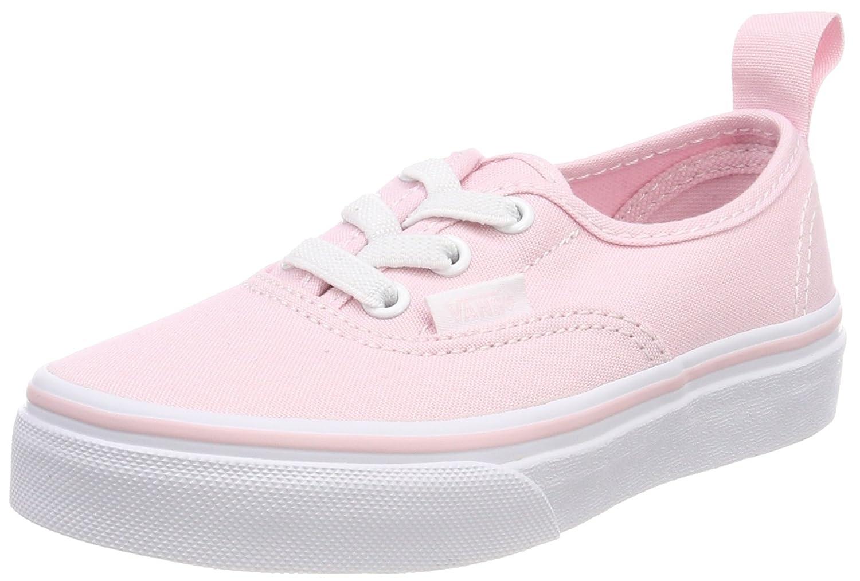Vans Kids Authentic Elastic (Elastic Lace) Skate Shoe 3 M US Little Kid|Chalk Pink True White