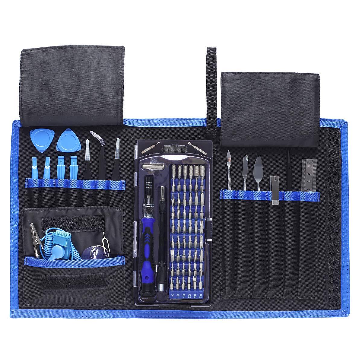 78 en 1 Kit Juego de Destornilladores de Precisión,Destornillador Portátil mit Magnéticos, Herramientas
