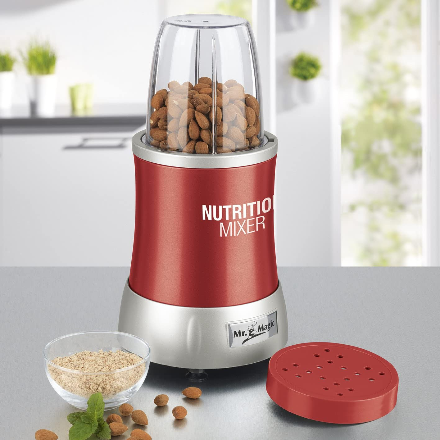 7 Funktionen Ideal f/ür Smoothies /& Cocktails GOURMETmaxx 04505 Nutrition Mixer Silber Rezeptheft /& To-Go Becher 700 Watt inkl