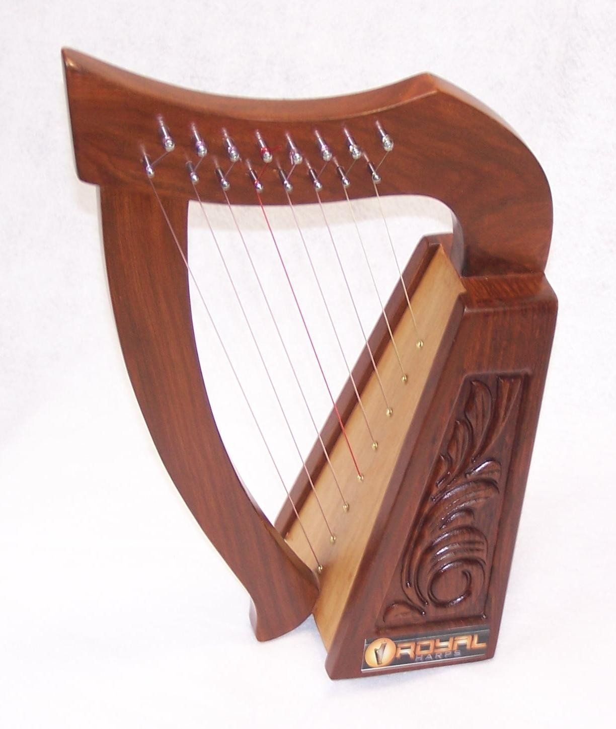 Mini Rosewood Harp 8 strings for Children with Bag Tuning key and extra Strings hand made STURGIS RHP8-a