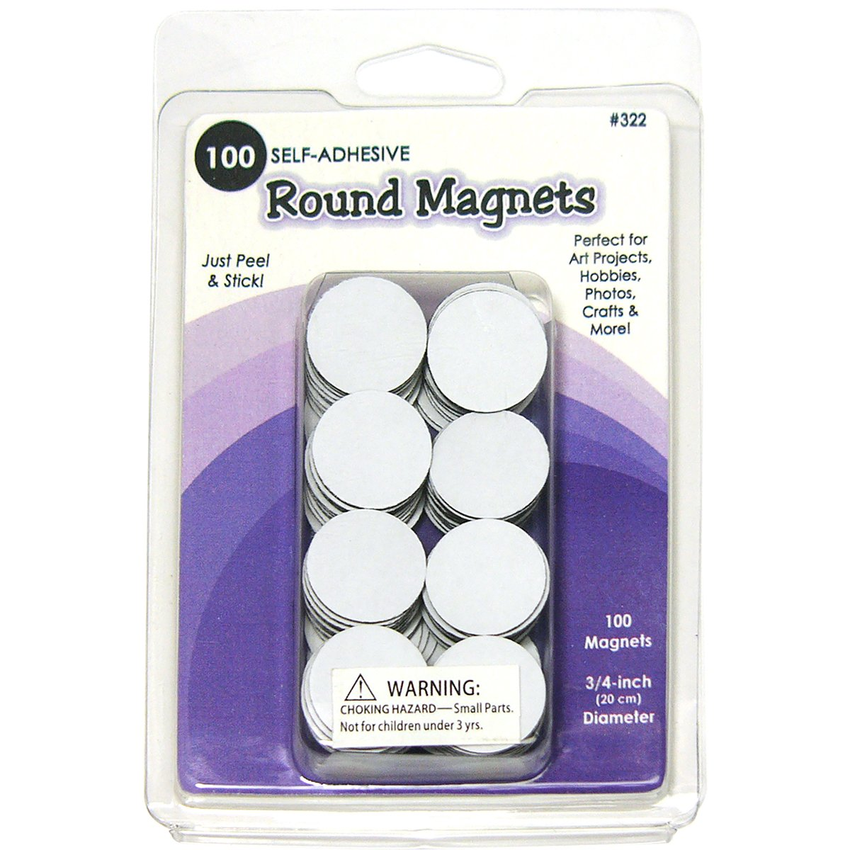 Quilled Creations Round Magnets, 0.75-Inch, 100 Per Package Q322