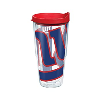 af379b9be Tervis NFL New York Giants Colossal Wrap Tumbler with Red Travel Lid, 24 oz,