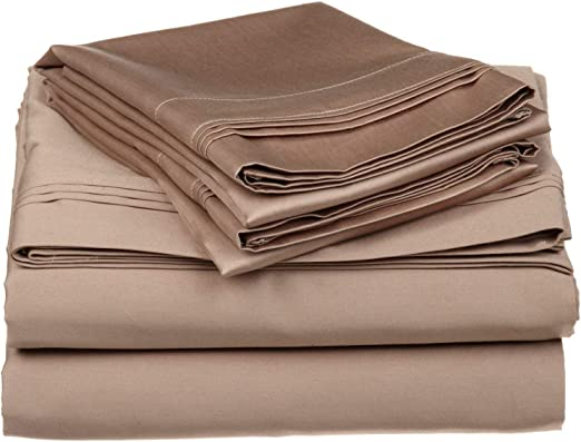 Queen Gold Solid 4 Piece Bed Sheet Set 1000 Thread Count 100/% Egyptian Cotton