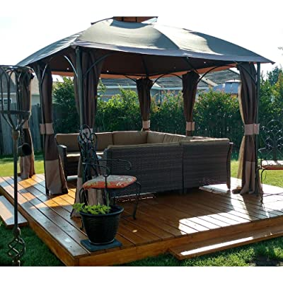 Garden Winds Replacement Canopy Top Cover for The Six Post Gazebo - RipLock 350 : Garden & Outdoor