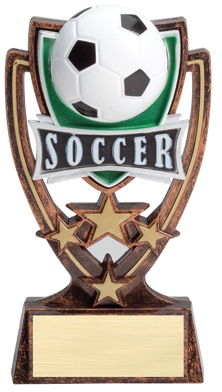 エッチングWorkzカスタマイズAward – Football – sts113シリーズ – サッカー4つ星樹脂Trophy – 刻印ゴールドメッキ – カスタマイズフリー B07D8STJMB