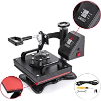 Mophorn Heat Press 12x10Inch Swing Away Heat Press Machine 650W Daul Digital Transfer Sublimation Heat Press Machine for T-Shirts with Overload Protector (12X10Inch, LED Display)