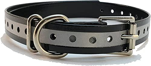 TrainPro Replacement Extra Collar Strap Band Buckle for Garmin Delta Dogtra SportDOG Tri Tronics Petsafe Petrainer Educator Esky Most Dog Training Collars and Fence