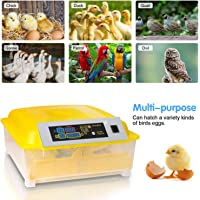 Couveuse Incubateur 48 œufs automatique Incubateur automatique Avec éclairage LED à affichage numérique et contrôle efficace et intelligent de la température et de l'humidité