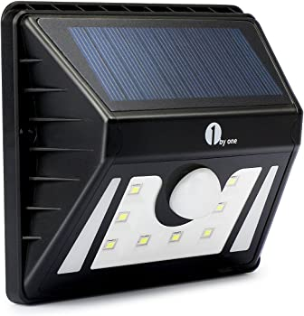 1byone Solar-Powered 8-LED Outdoor Security Light