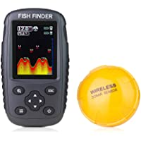 $80 » Venterior Portable Rechargeable Fish Finder Wireless Sonar Sensor Fishfinder Depth…
