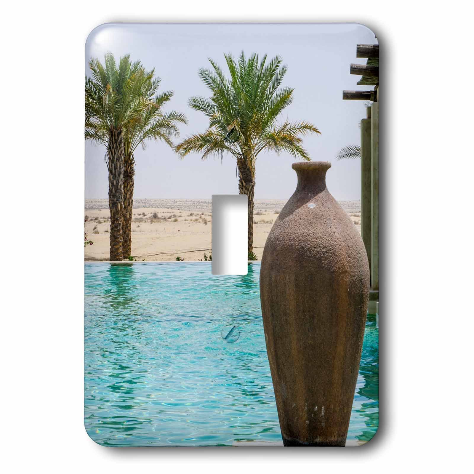 3dRose Danita Delimont - Pool - Pool area at a Resort and Spa. Dubai, UAE. - Light Switch Covers - single toggle switch (lsp_226129_1)