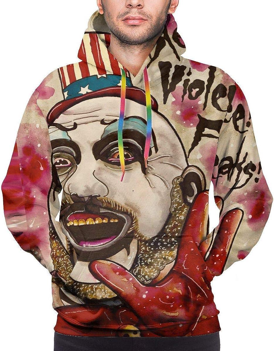 Mens Novelty Captain Spaulding Hoodies Generic Long Sleeves Sweatshirt with Pocket Blouse