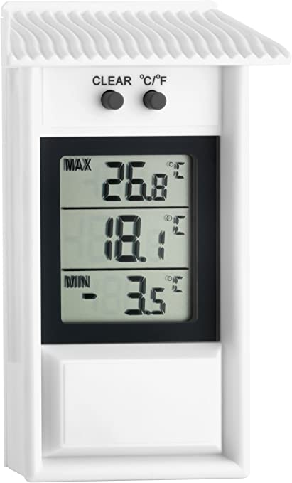 Tfa 30 1053 Termometro Digitale Con Minima E Massima Amazon It Casa E Cucina Termómetro atmosférico, base plástico color caoba, 3 escalas: tfa 30 1053 termometro digitale con minima e massima