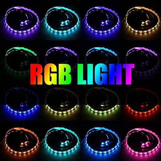 120/° Wide Light Angle Waterproof Remote USB LED with 24-Key Remote Control 0.5m IR Remote LED Strip Diyeeni 50cm LED Strip Lights USB RGB LED Strip
