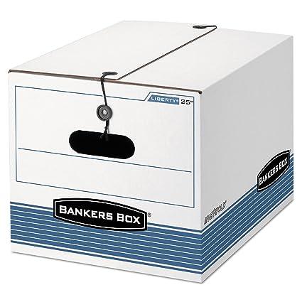 Bankers Box - Caja de almacenamiento, legal/letra, cierre de ...