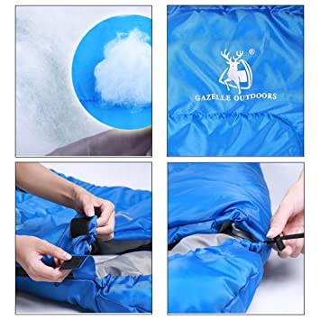 DIGUAYE ligero portátil Saco de dormir impermeable comodidad con saco de compresión Ideal para 4 temporada Viajes Camping Senderismo Actividades en ...