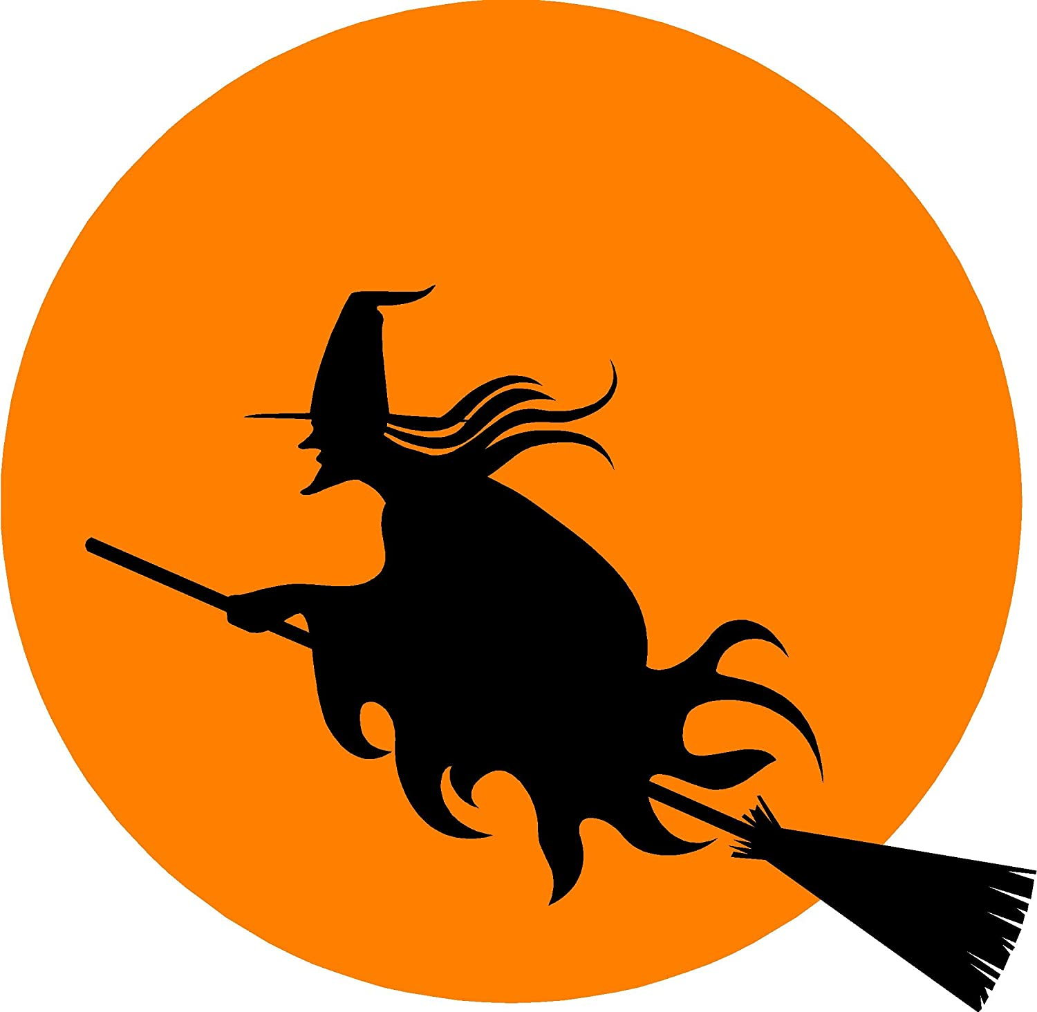 amazoncom halloween witch wall sticker decal removable decoration wall sticker for home cute wall art wall quote wall saying wall banners garden u0026
