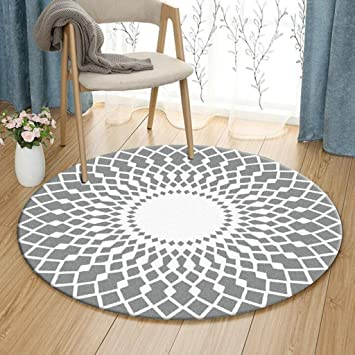 Amazon Com Gjm Shop Simple And Modern Round Carpet Living