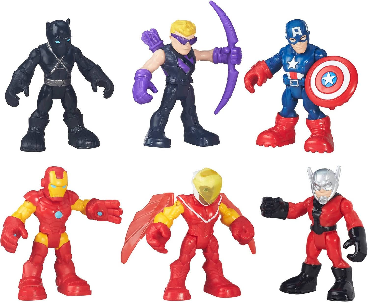 Playskool Marvel Super Hero Avengers Set Action Figure 5 Pieces Pack Kids Gift