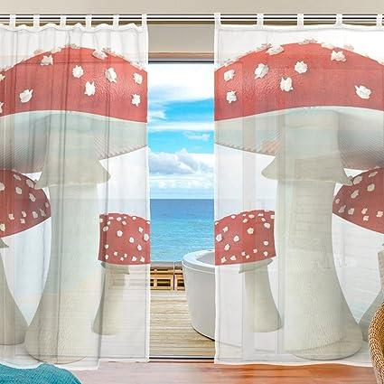 amazon com mushroom curtains sheer elegant comfort window
