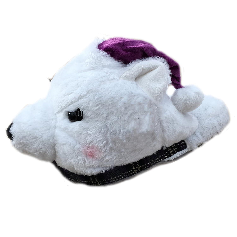 Comfy Feet Christmas, Unisex Erwachsene Hinten Offen, Eisbär - Größe: Einheitsgröße