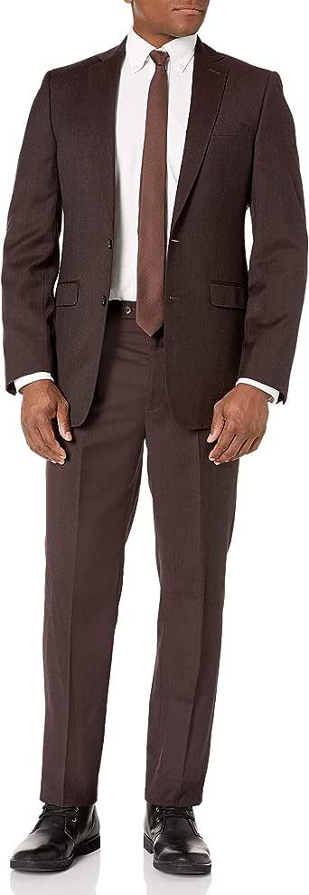 Calvin Klein Men's Slim Fit Wool Suit