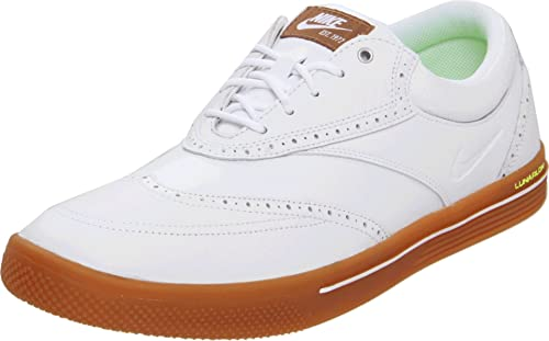 newest 3f33b 349ae Nike Golf Men s Nike Lunar Swingtip Leather-M, White Gum Medium Brown