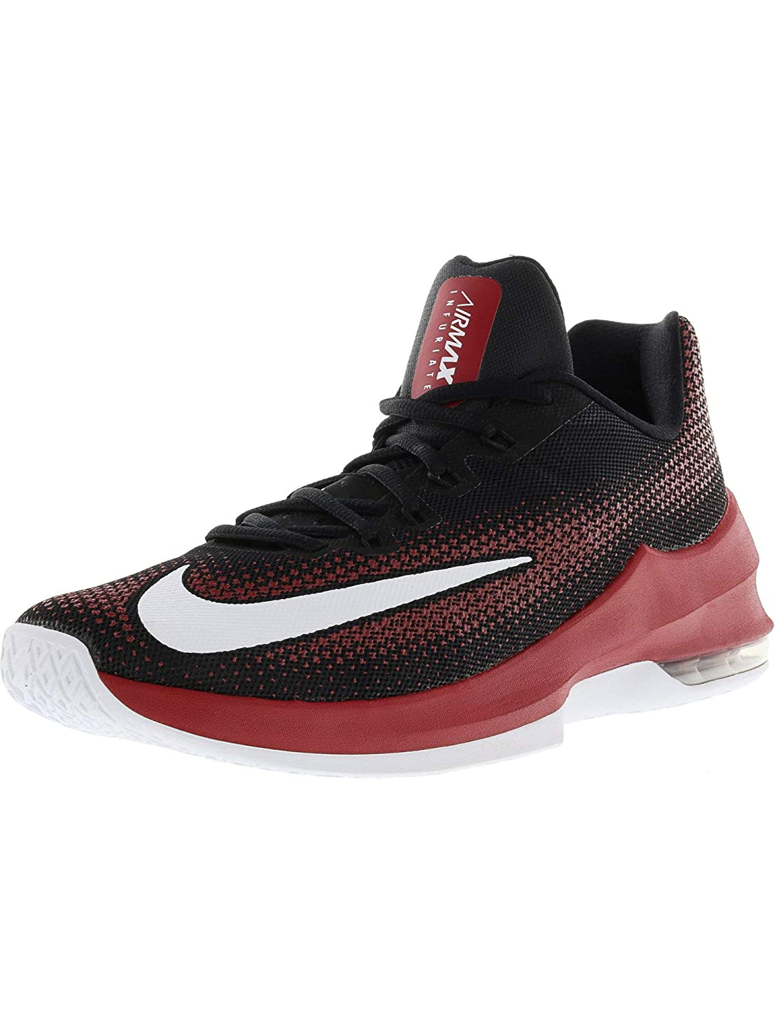 reputable site efb3b 59873 Nike Air Max Infuriate Low Black White Gym Red Dark Grey Men s Basketball  Shoes  Buy Online at Low Prices in India - Amazon.in