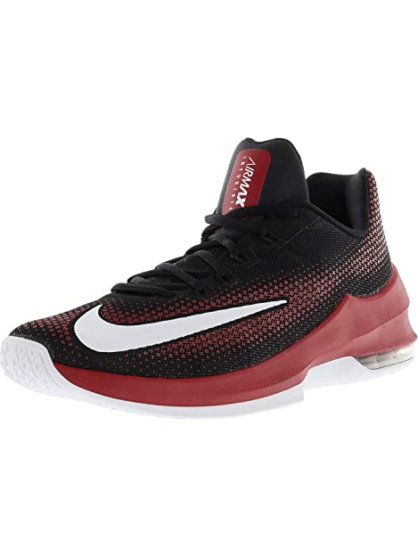 e0dd7658fe4 Nike Men s Air Max Infuriate Low Black White-Gym Red-Dark Grey Ankle