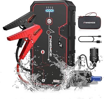 Oferta amazon: FNNEMGE Arrancador de Coches, 2000A 21800mAh Arrancador Batería Coche (para Todo Vehículo 8.0L de Gasolina o 6.5L de Diesel),Booster Bateria, Carga Rápida QC3.0 Type C