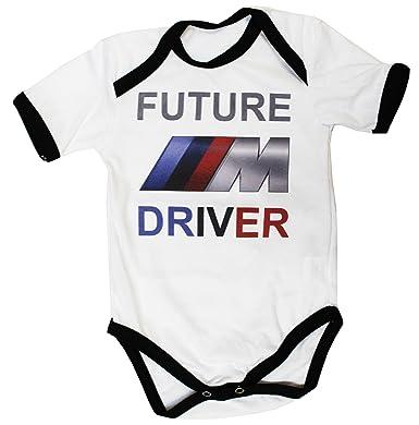 BMW Body bébé Unisexe Blanc Manches Courtes garçon Fille Autocollants Coton  Peigné (0-3 24d7d5c9c22