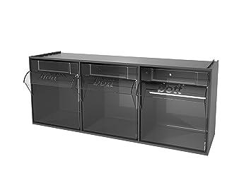 Bott 02513020 inclinación caja de almacenaje 3 compartimento + soportes: Amazon.es: Bricolaje y herramientas