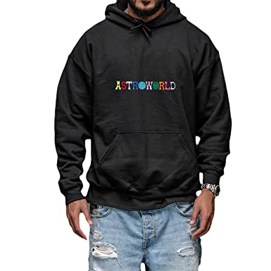 ee4d69ed4ead Travis Scott ASTROWORLD Album Merch Hoodie Hoody (XX-Large) Black ...