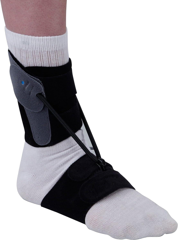 Gota pie férula/órtesis–recomendado para flácida pie gota/gota pie. Banda de plantar adicional para uso sin calzado o con zapatos sin cordones, disponible en cuatro tamaños.