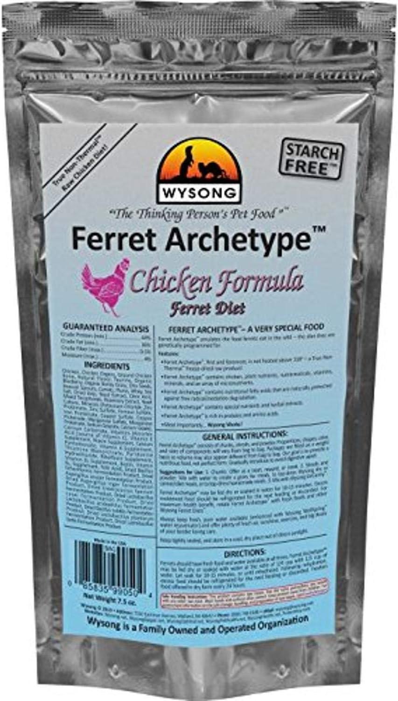 Wysong Ferret Archetype - Raw Ferret Food - 7.5 Ounce Bag