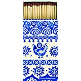 Extra long matches Emma Bridgewater Traditional Hen Blue White