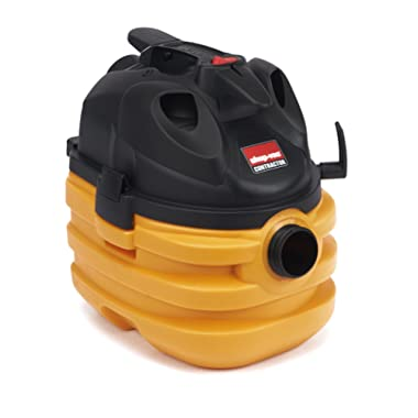 Shop-Vac 5872810 6.0 Peak HP Heavy Duty Portable Vacuum 5 gallon Yellow/Black with Cord & Tool Storage & Multifunction Accessories, Uses Type BB Cartridge Filter & Type H Filter Bag