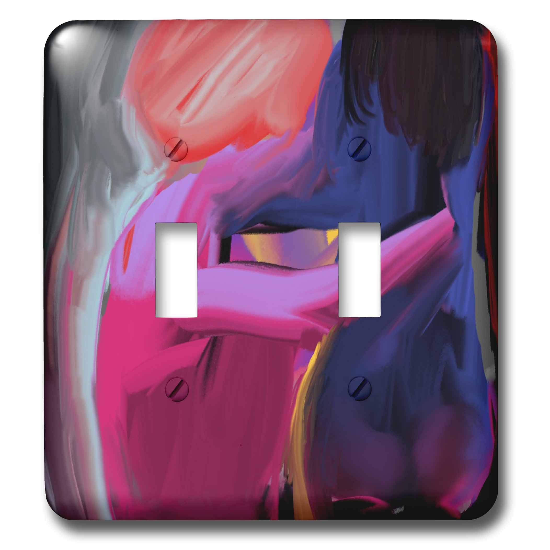 3dRose Lasha Beraia - Sensual - Woman and Man: Intimate Scene - Light Switch Covers - double toggle switch (lsp_288668_2)