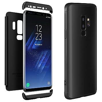 Galaxy S9 Plus Carcasa, ivencase Premio híbrido Rugged 3 in 1 Duro antiarañazos mancha PC Funda protectora para Samsung Galaxy S9 Plus Negro