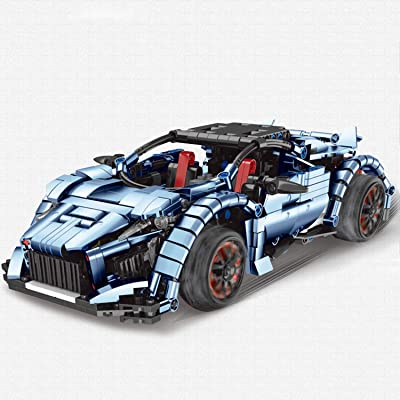 Electric 2.4G Remote Control Car Robot - Sports Racing Assembled Toy Car Model High Difficulty Building Blocks for Adult Boy 807 PCS Blue: Toys & Games